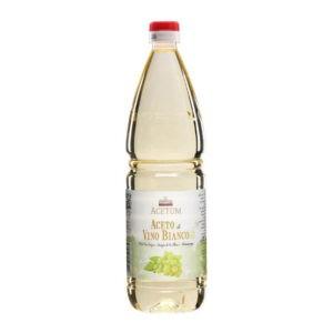 Bottiglia 1 litro Aceto di Vino bianco Acetum shop vepral