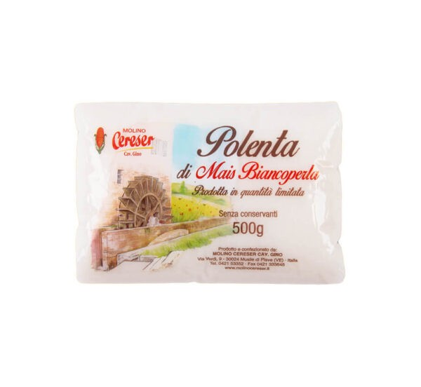 Confezione 1 Kg Polenta Bianca Molino Cereser Shop Vepral