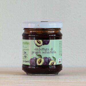 Vasetto 220 gr marmellata prugne selvatiche Settecentoalberi Shop Vepral